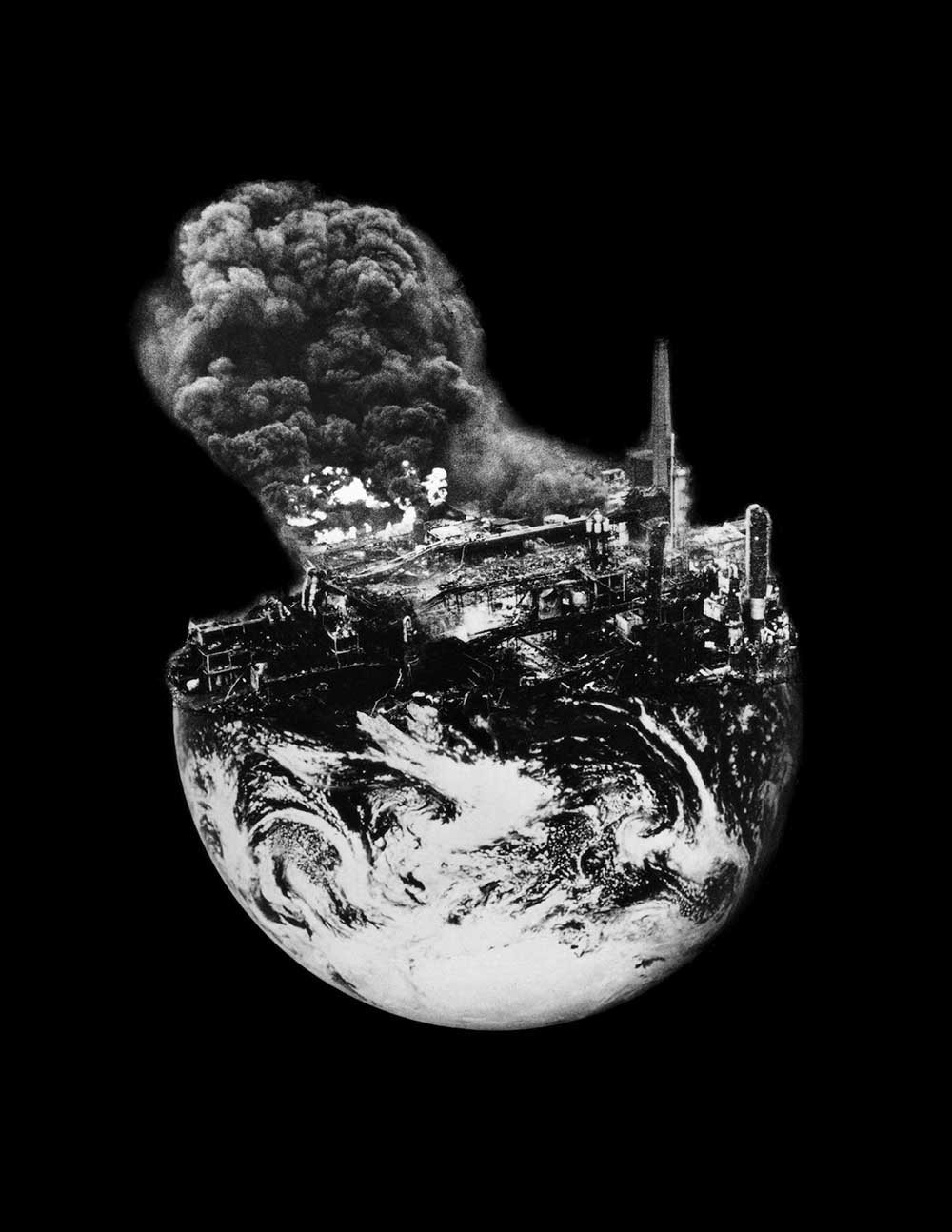 Earth 6 - PhotomontageGelatin silver print on card1988 – 2016First published:The Gaia Peace Atlas,Pan Books, 1988Catalogue: PK/36