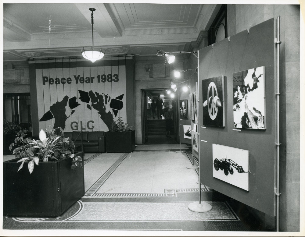 GLC Peace Year, County Hall, 1983