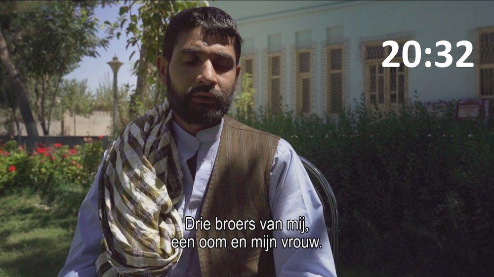 Abdul Raziq, nabestaande. Verloor 5 familieleden.