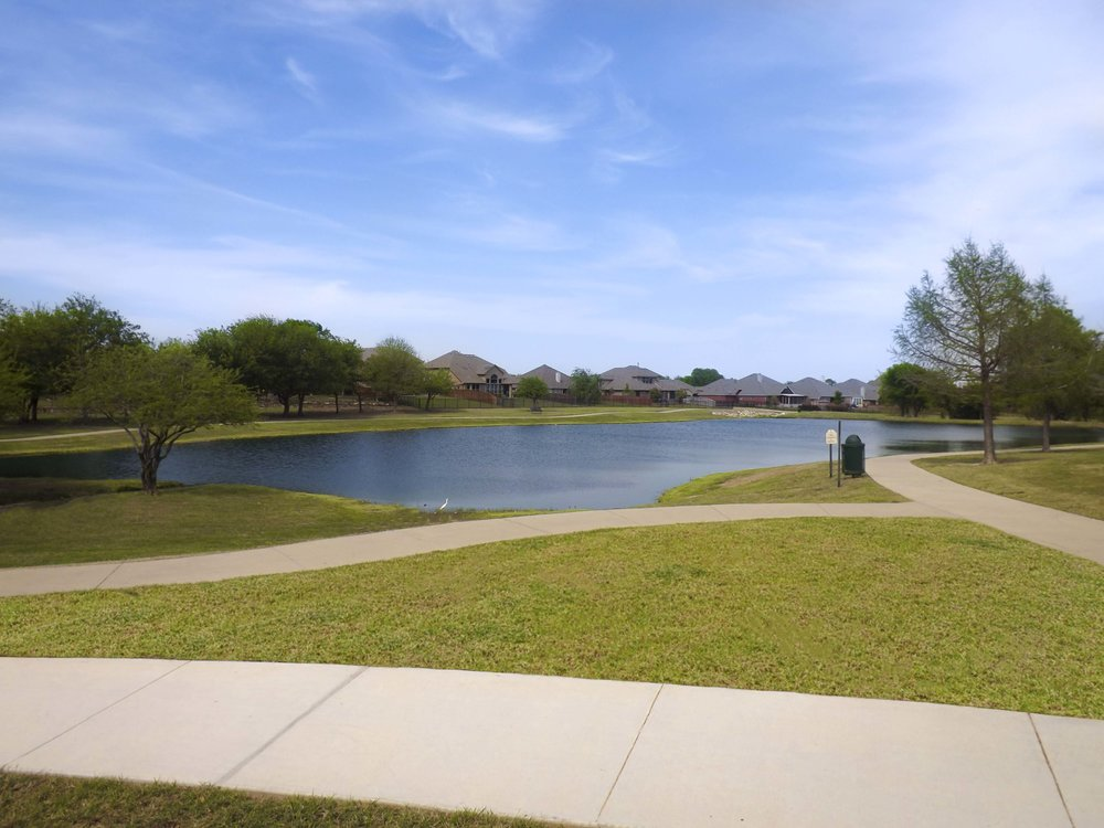 Pond with walking trail