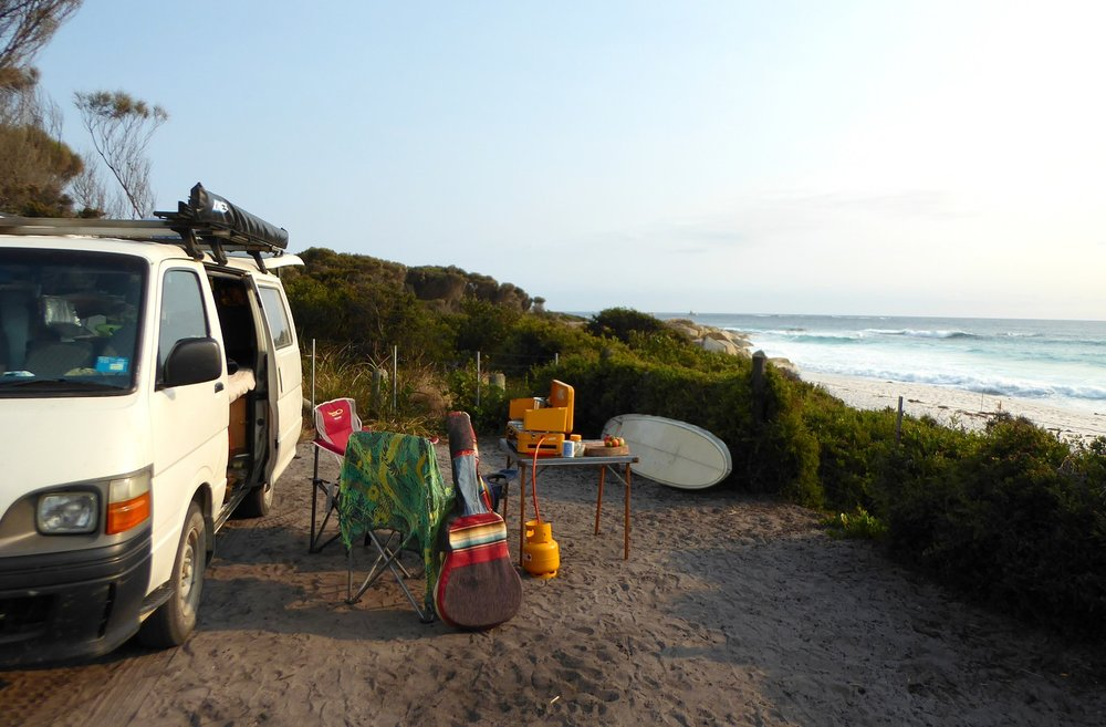 Tasmania Beachside Camp