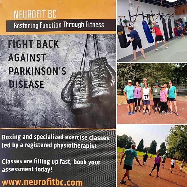 Innovative physiotherapy care for people with Parkinson's Disease has shone a bright light on the important value that PT brings to exercise prescription for those living with chronic disease.  The owner of NeuroFit BC draws on her advanced medical training and understanding of physical function to develop and successfully implement boxing, track, and dance classes that are not only enjoyable for the patients, but also use firm neurophysiological principles to achieve tremendous results.  We would like to thank everyone at NeuroFit BC for allowing us to observe over the last two days!
