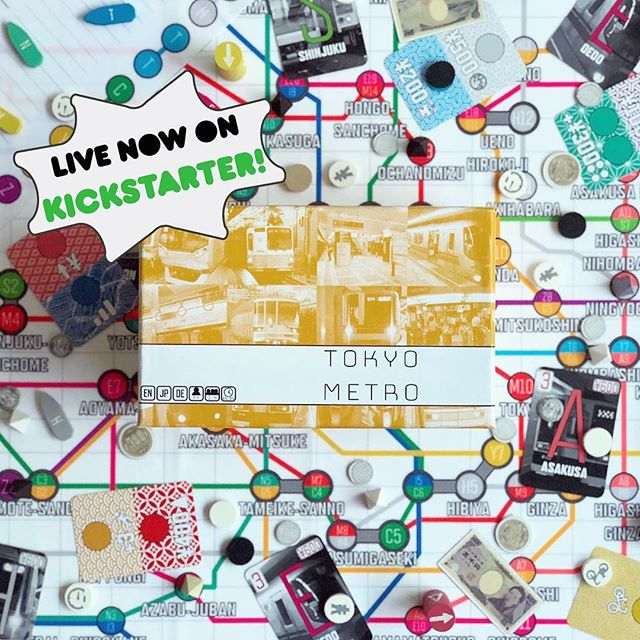 Have a fever for investing in train lines? How about riding a bicycle?? Wait wait, how about trading in that bicycle for a free station??? YOU CAN DO IT IN TOKYO METRO =D Live now on Kickstarter, link in bio #trains #traingame #subway #metro #tokyometro #orange #bright #kickstarter #kickstartercampaign #kickstartergames #kickstagram #kickstarts #colorful #investing #economics #yen #japan