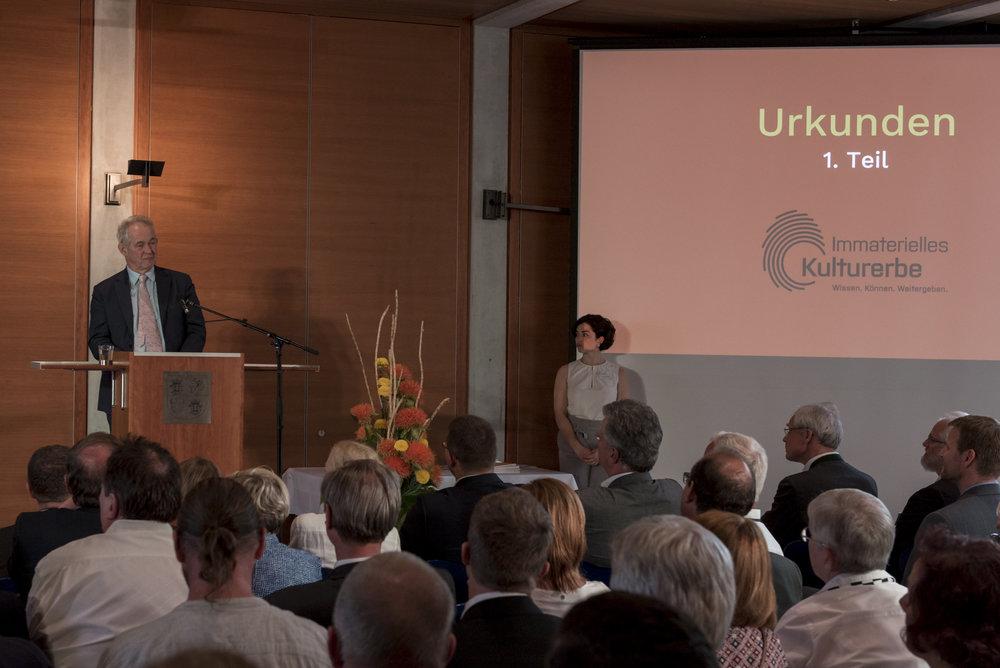 Prof. Christoph Wulf, Vizepräsident der Deutschen UNESCO-Kommission und Vorsitzender des Expertenkomitees Immaterielles Kulturerbe © DUK/Christoph Löffler