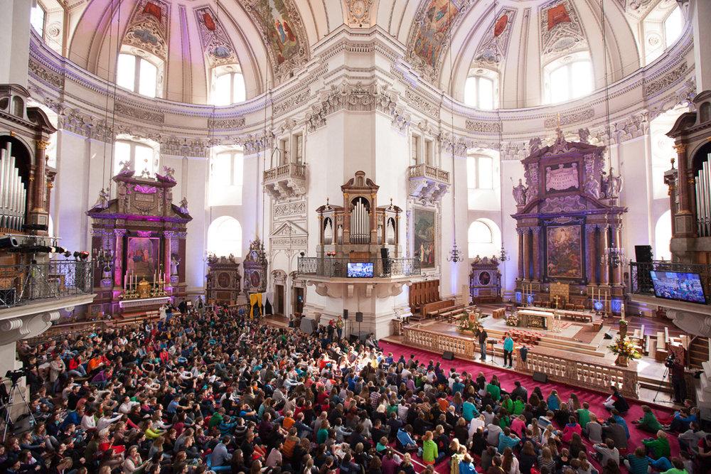Austria: Loretto celebrate Pentecost, Salzburg
