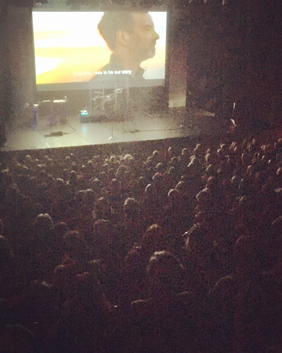 Geneva, Switzerland - October 2016: Premiering the Dirty Glory trailer to a packed house at a 24-7 Gathering in a former porno cinema in Switzerland.