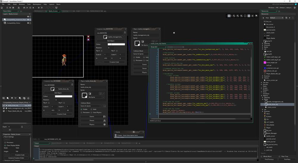 Screen cap of Overquill in gamemaker (TBD image)