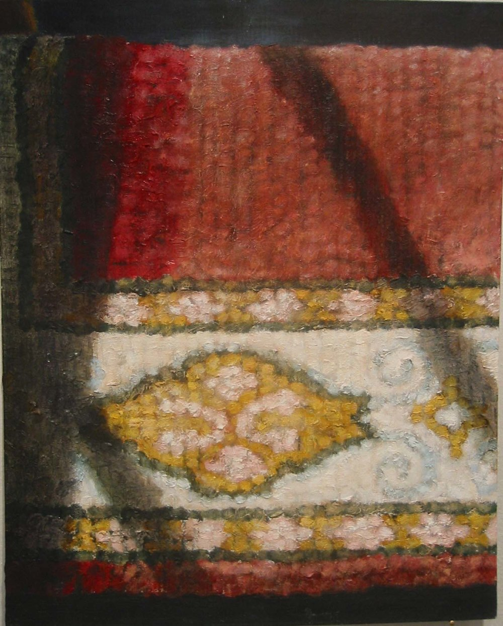 Interior with rug  Oil on board 35x27 cm 2003