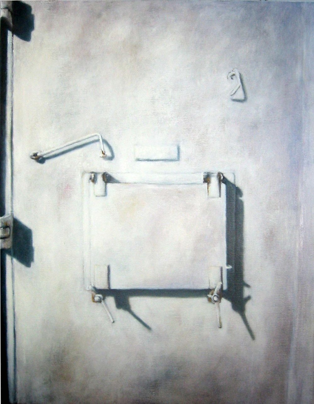 Exterior with white door   Oil on canvas   130 x 100 cm 2005