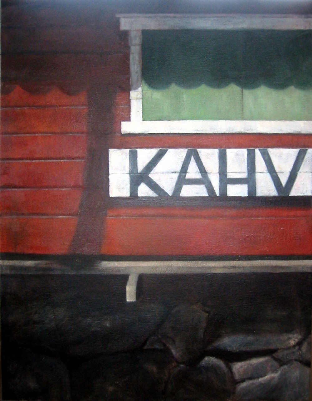 Exterior from café   Oil on canvas   130 x 100 cm 2005