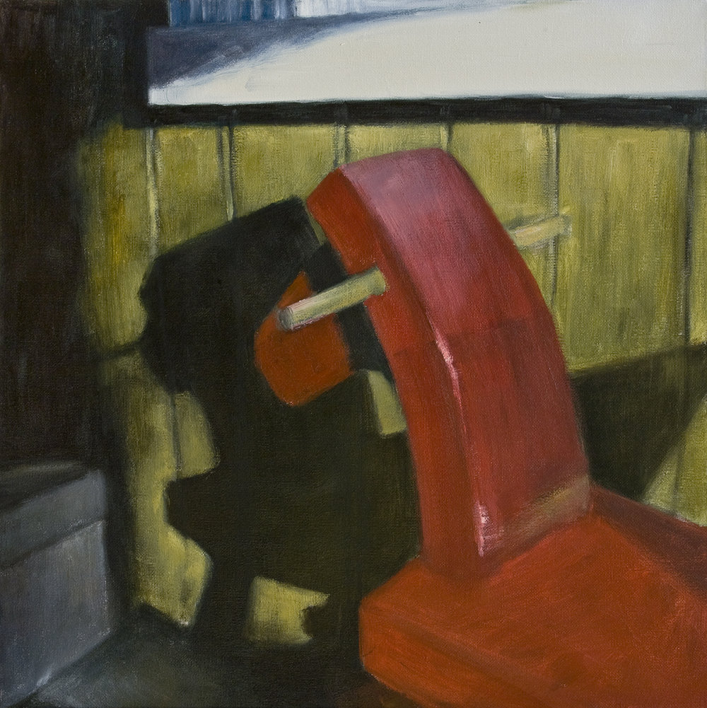 Interior with rocking horse  Oil on canvas 50x50 cm 2006