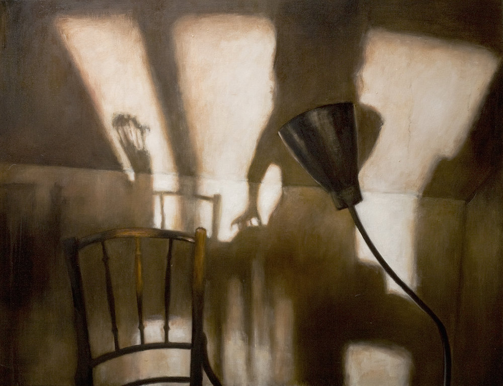 Interior with chair and lamp  Oil on canvas 89 x 116 cm 2007