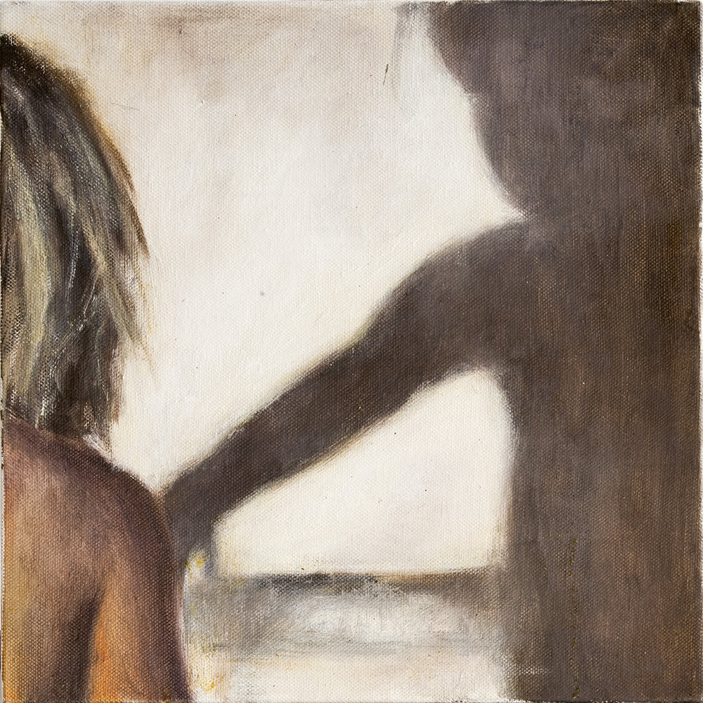 Interior with girl  Oil on canvas 30 x 30 cm 2007