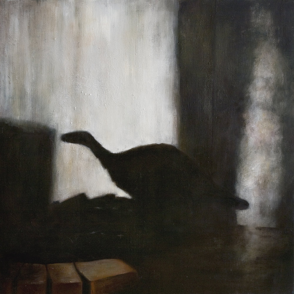 Interior with dinosaur   Oil on canvas 100 x 100 cm   2008