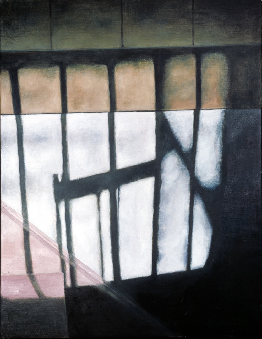 Interior with stairs  Oil on canvas 130 x 110 cm 2003