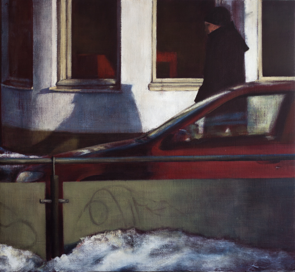 Exterior from tram stop  Oil on canvas 110x120 cm 2012