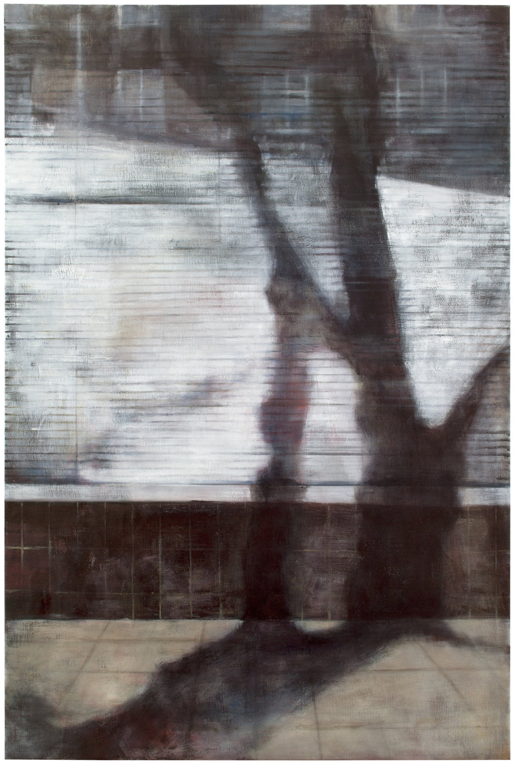 Exterior with blinds II  Oil on canvas 150x100 cm 2011