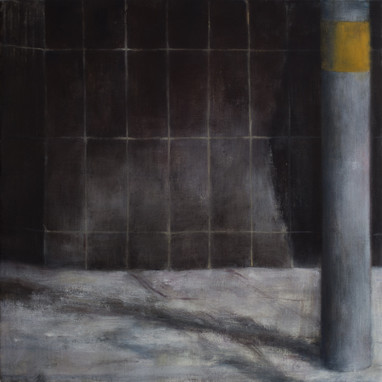 Exterior with pole  Oil on canvas 70x70 cm 2011