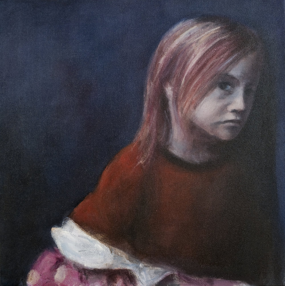 Girl after the masquerade  Oil on canvas 50x50 cm 2008