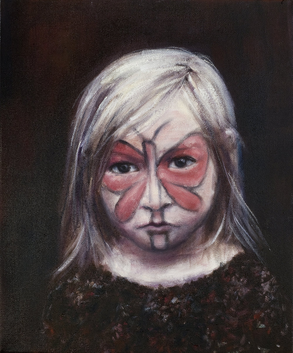 Girl with face painting  Oil on canvas 46x38 cm 2008