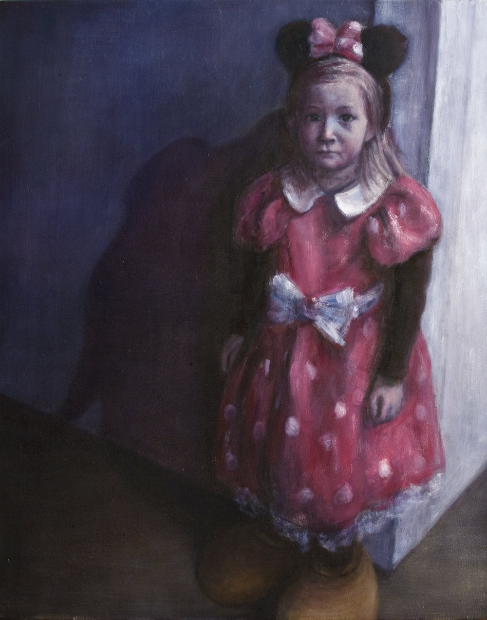 Girl with Minnie Mouse dress  Oil on canvas 100x80 cm 2008