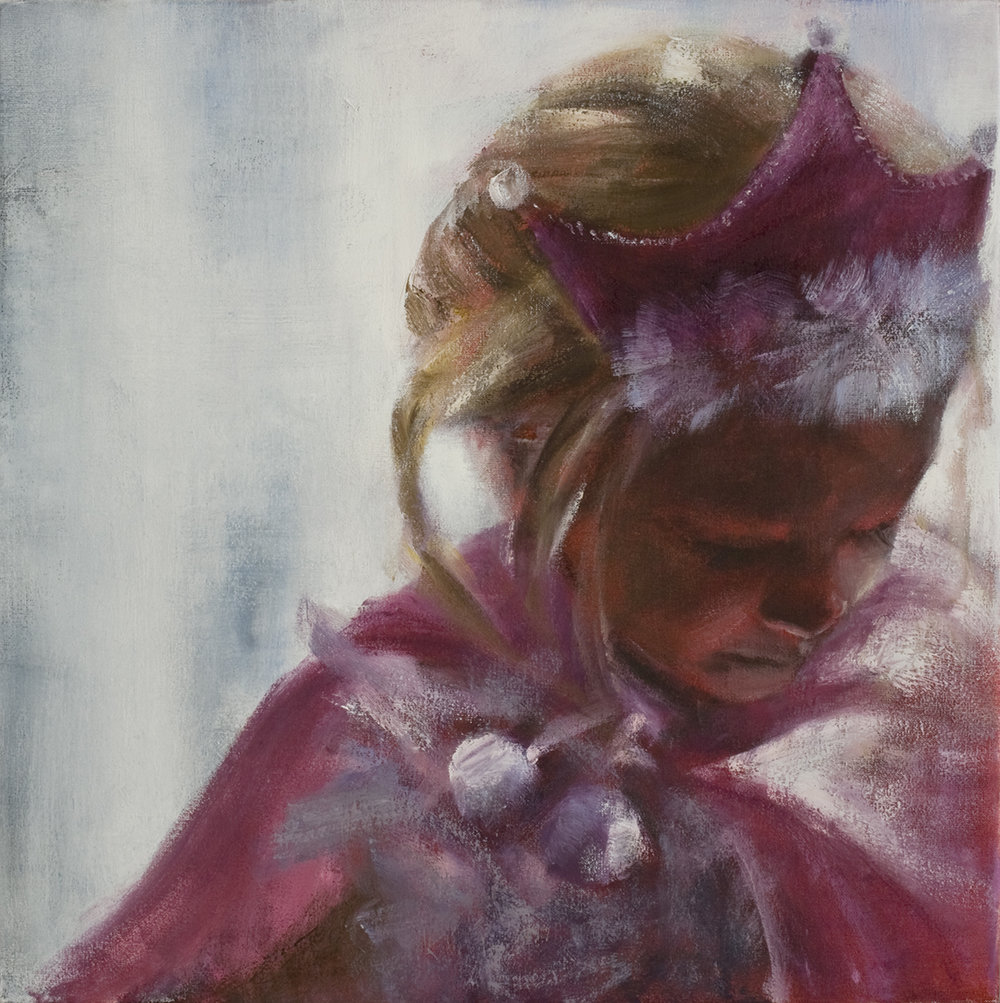 Girl with princess dress  Oil on canvas 50x50 cm 2008