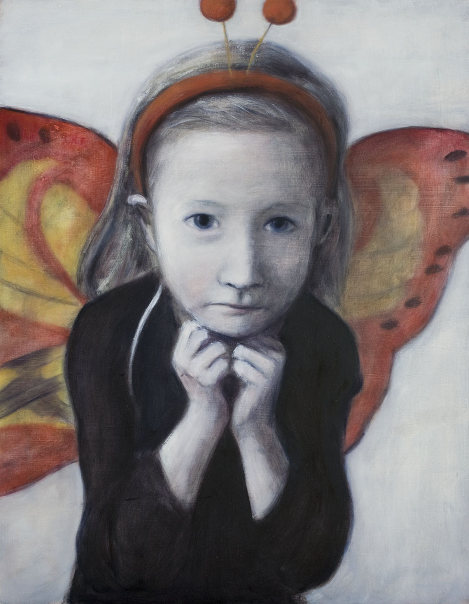 Girl with butterfly wings  Oil on mdf 58x46 cm 2009