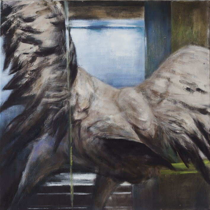 Display (Crane)  Oil on canvas ca 55x55 cm 2012