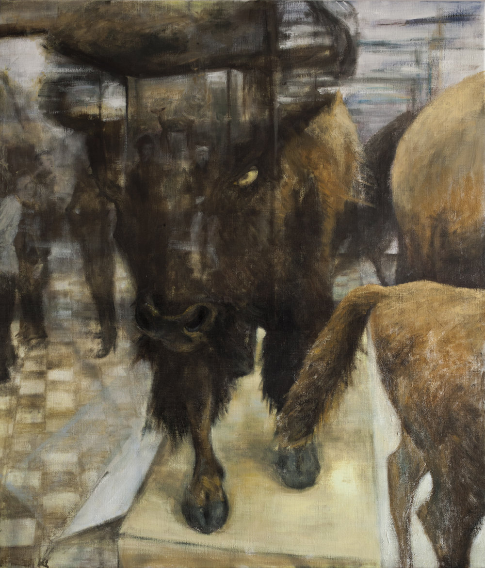 Display (Bison)   Oil on canvas 150 x 130 cm 2012