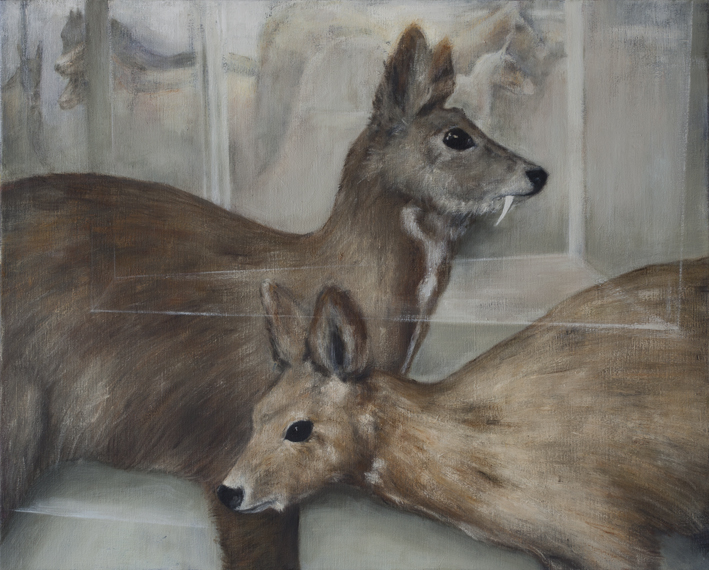 Display (Deer)  Oil on canvas 65 x 81 cm 2012