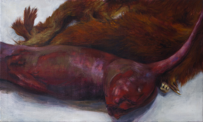 Display (Taxidermy II)  Oil on canvas ca 60x100 cm 2014