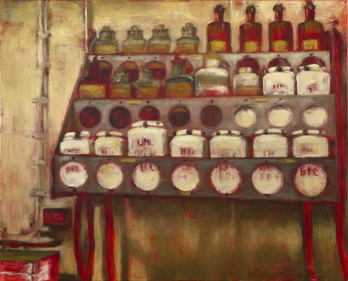 Sarjasta Välskärin (kertomattomat) kertomukset #2  Akryyli ja öljy kankaalle 81 x 100 cm 2014–2015