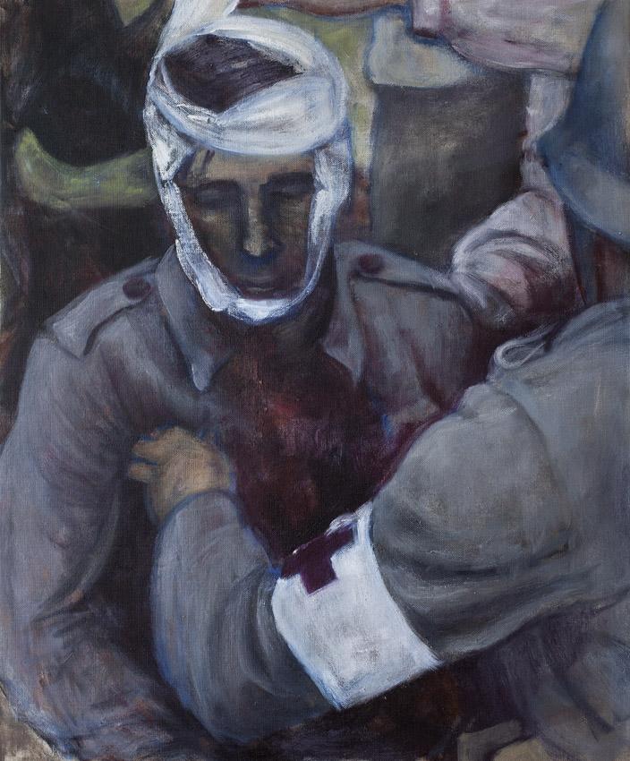 Sarjasta Välskärin (kertomattomat) kertomukset #16  Öljy kankaalle 65 x 54 cm 2015