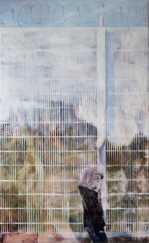 From the series Fences (I)   2015 acrylic and oil on canvas 170x105 cm