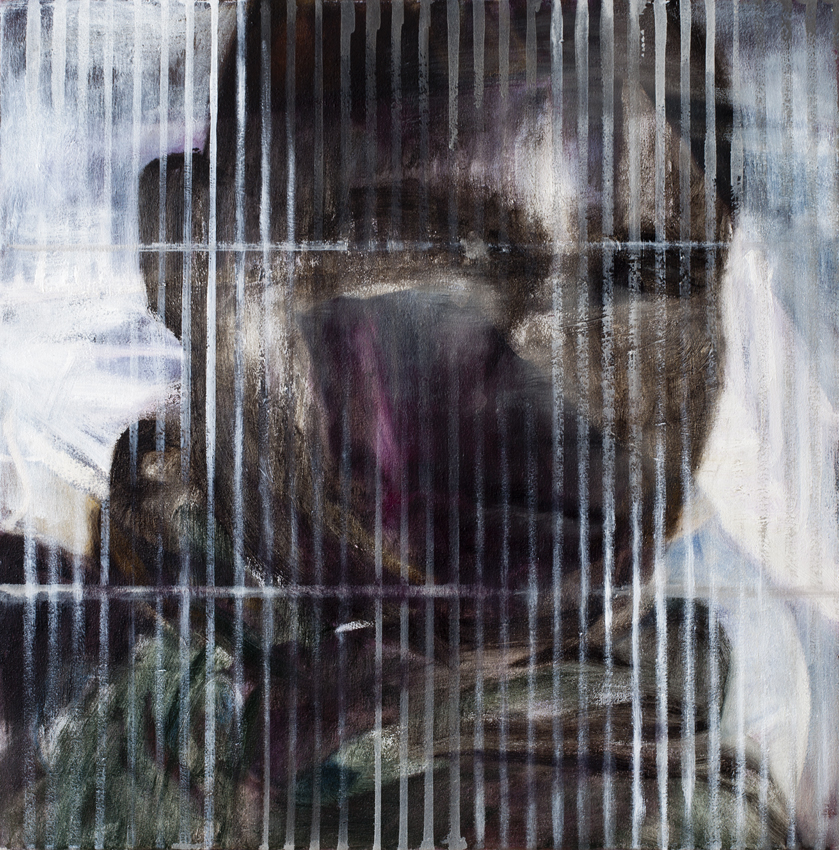 From the series Fences (II)   2015 acrylic and oil on canvas 50x50 cm