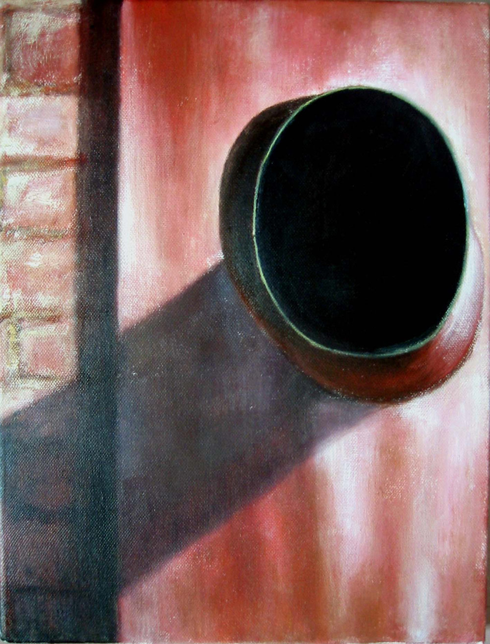 Exterior from airer  Oil on canvas 35x27 cm 2005