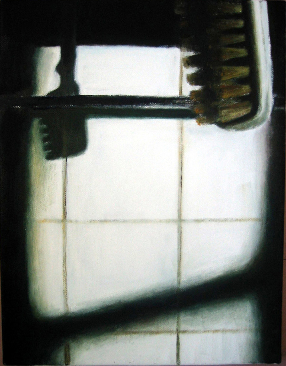 Interior with potatobrush  Oil on canvas 35x27 cm 2005