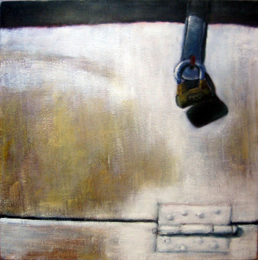 Exterior with lock  Oil on canvas 30x30 cm 2005
