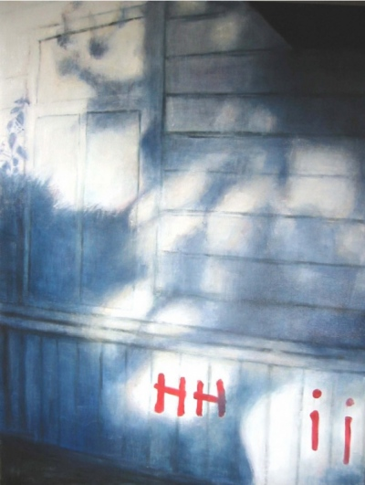 Exterior from abandoned house  Oil on canvas 2006