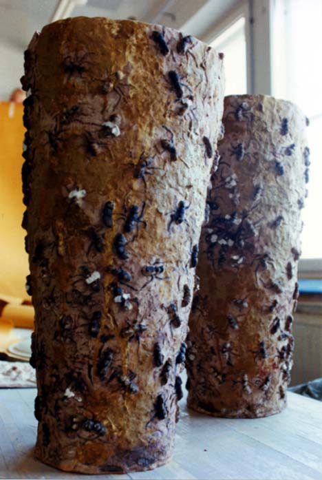 Ant Pots  , 1999. Mixed clay, engobes, oxids. About 90 cm high.
