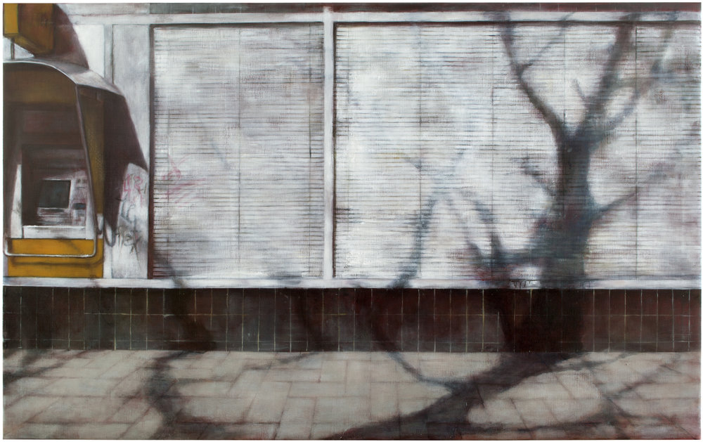 Exterior with blinds  Oil on canvas 150x240 cm 2011