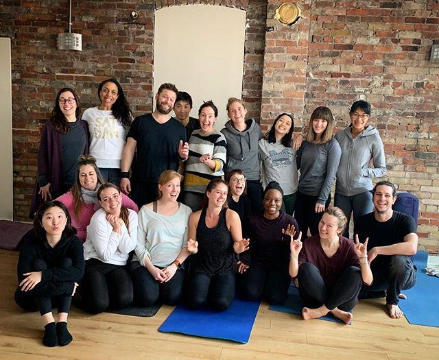 Creative leaders in training ✌️ Say hello to the spring 2019 Teacher Training crew @iamyogatoronto