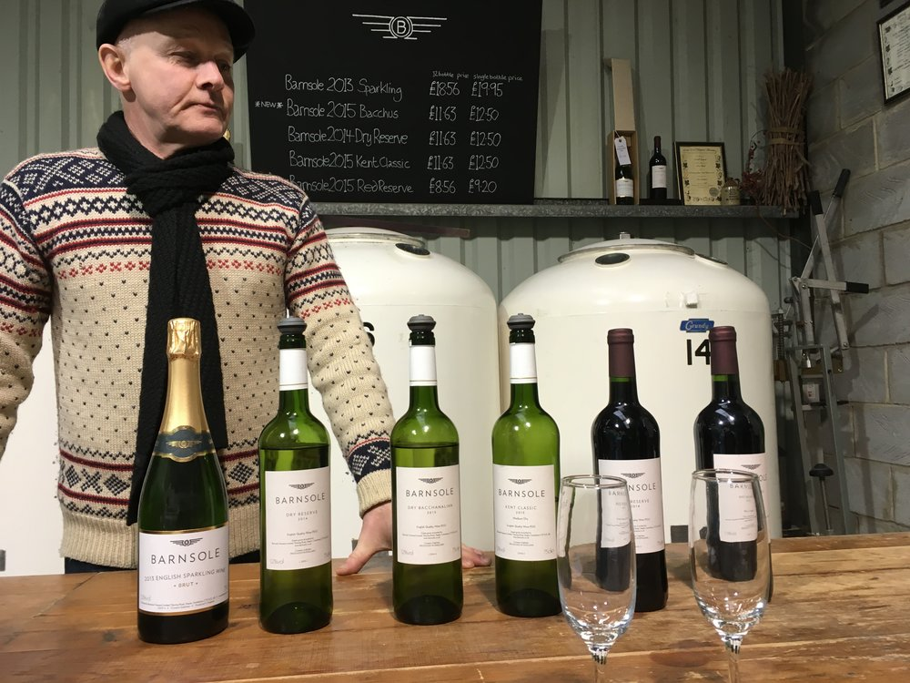 I had a private tasting with wine maker Phillip at Barnsole vineyard in Kent