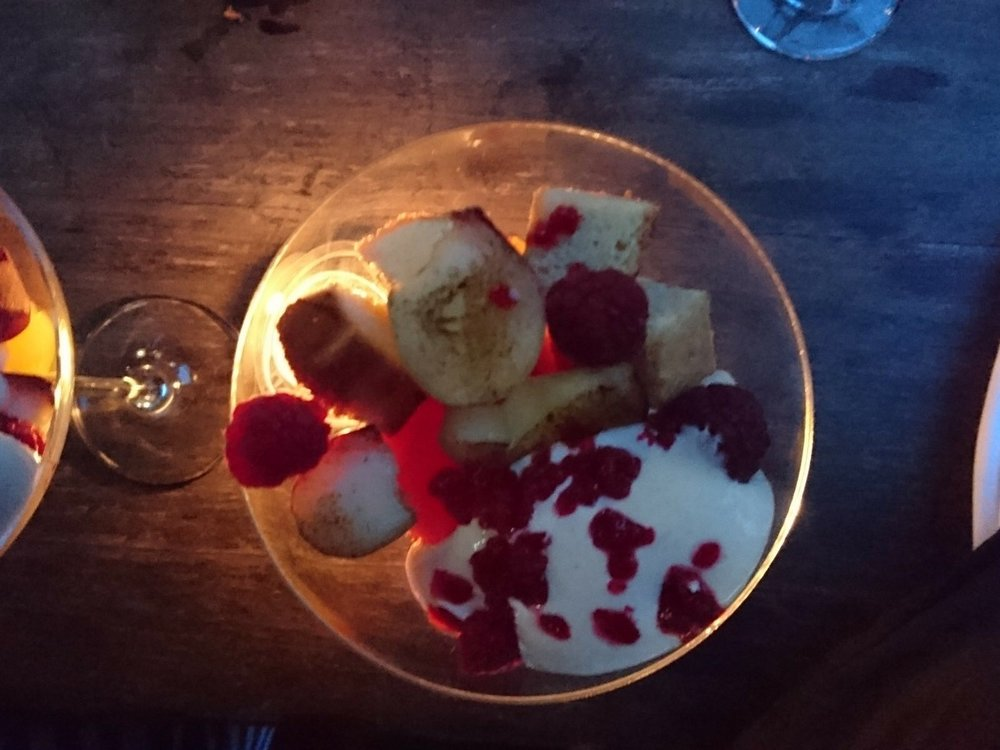 Peach and Orange Trifle, Biddenden's Special Mead and a summer sun-set are the perfect end to a meal