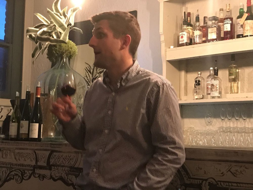Opining over fine wine (at the Dead Doll's House - not my place)