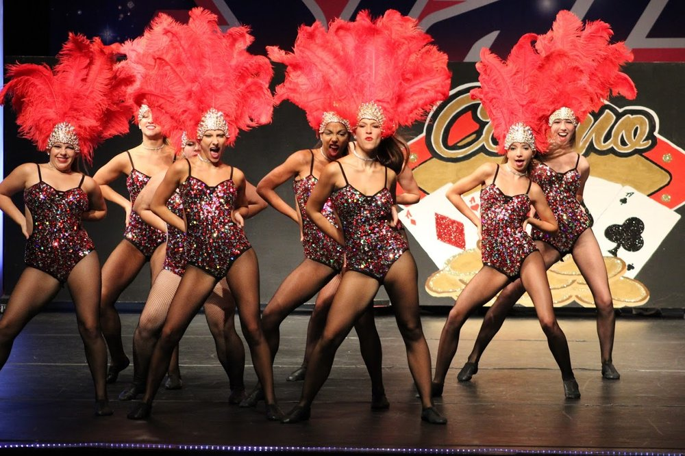 """Vegas Baby"" Production Jazz, 3rd place Finalist at 2017 Starpower National Championships."