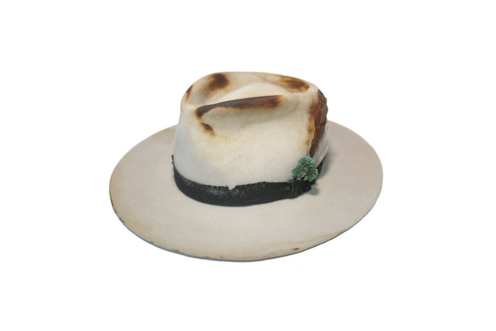 16eb1231a1d42 Betsy Distressed Flat Brim Fedora — Covet Hats by Aimee Speer