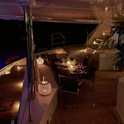 Dinner is served! 🗾⛵️🍾 . . .  #discovery #wanderlust #sailing #yachtlife #sunreef74 #bvi #virgingorda #peterisland #scrubisland #neckerisland #bviheaven #gourmet #summer2017 #luxury #thebaths #bitterend #boatbookings #yachtlife #lifeofluxury #catamaranlife #gourmet #riseandshine