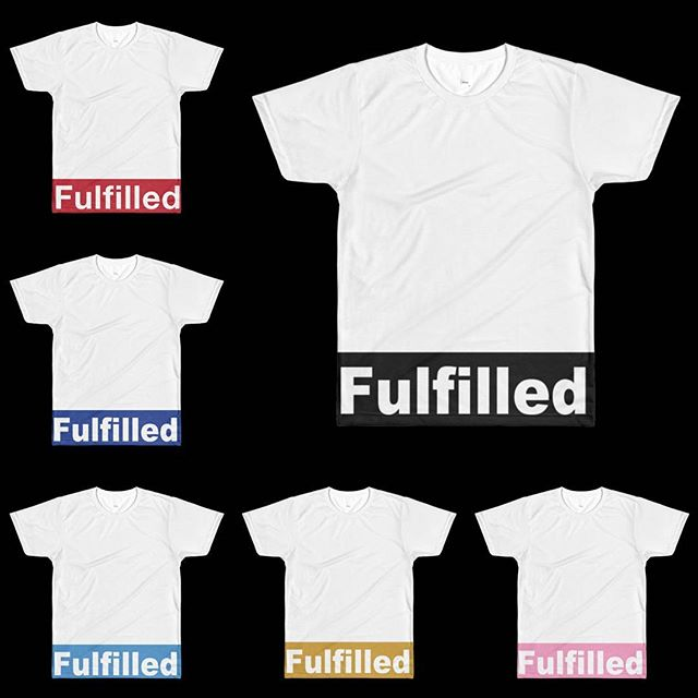 "👀👀Different shades, but the feels the same.  Check out our NEW Fulfilled ""Block"" Tees on the website!  Link in @fulfilledapparel  bio."