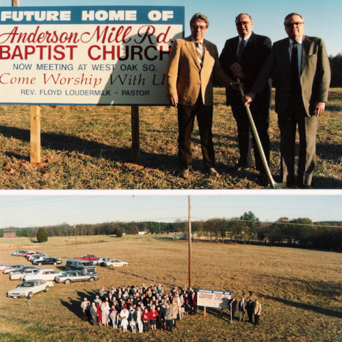 Groundbreaking ceremony on December 4, 1988.